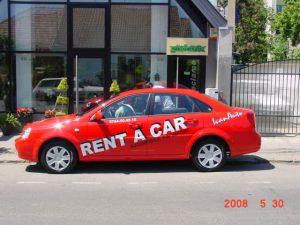 INSCRIPTIONARI VITRINE SI DECOR AUTO Rent a car