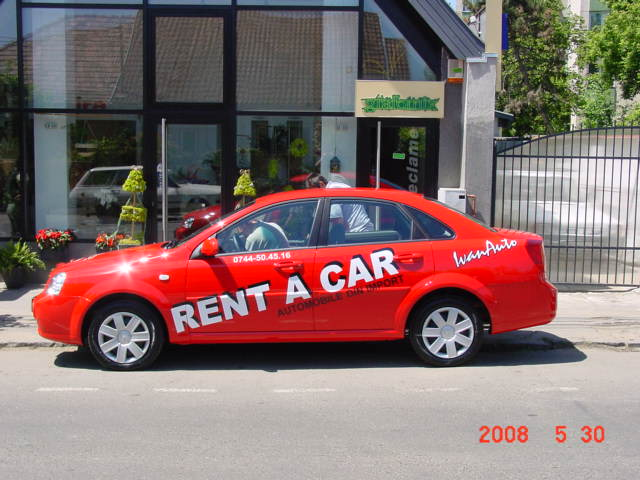 INSCRIPTIONARI VITRINE SI DECOR AUTO Rent a car