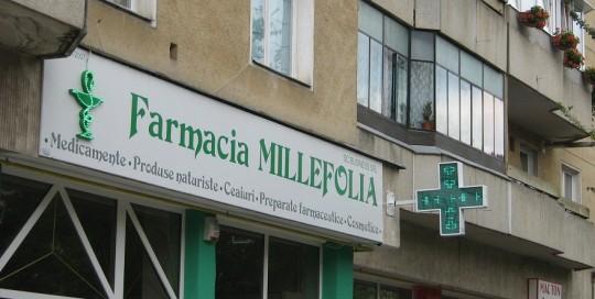 LITERE IMPLANTATE CU LEDURI Farmacia Millefolia
