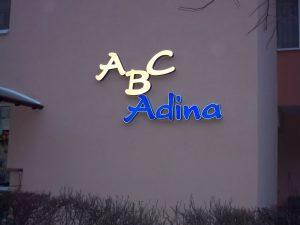 LITERE VOLUMETRICE LUMINOASE ABC Adina