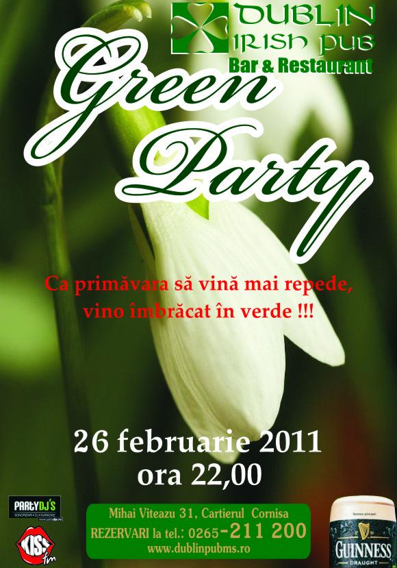 PRINTURI SI BANNERE Green Party